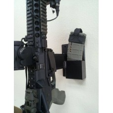 "7"" Single Post Wall Mount with Double Mag Storage"