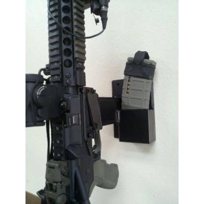 """7"""" Single Post Wall Mount with Double Mag Storage"""