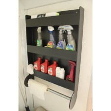 Trailer Door Cabinet (3 Shelves With Paper Towel Holder)
