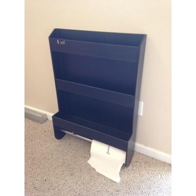 Large Trailer Door Cabinet (3 Shelves With Paper Towel Holder)