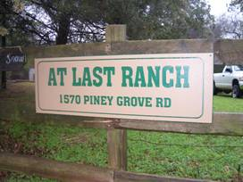 Engraved Sign At Last Ranch