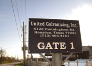 Engraved Sign Gate One